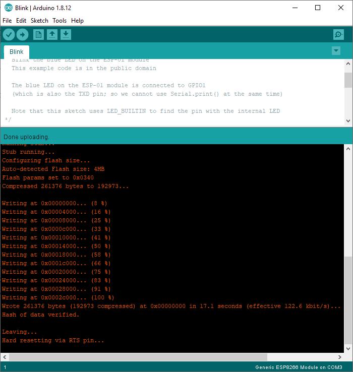 Arduino IDE Flashing