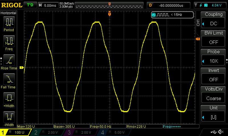 scope, osciloscope mains voltage