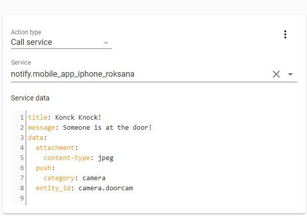 Smart Doorbell automations iOS 1
