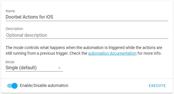 Smart Doorbell automations iOS 3