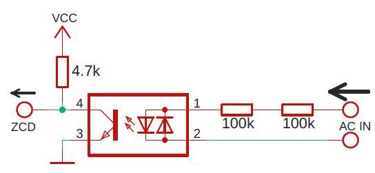 Triac zero cross detection