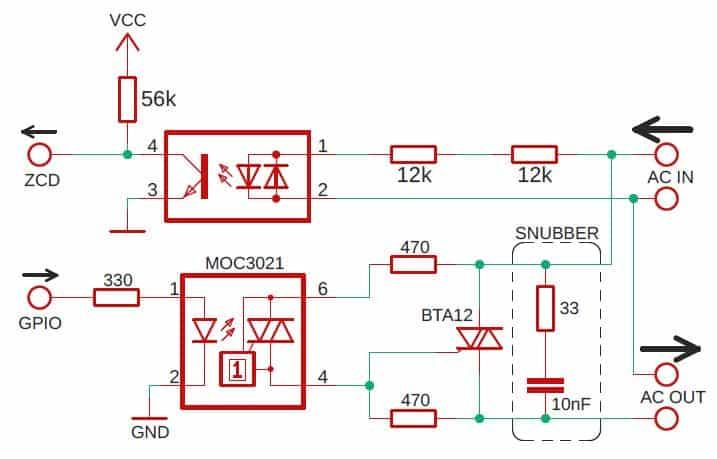 triac final schematic