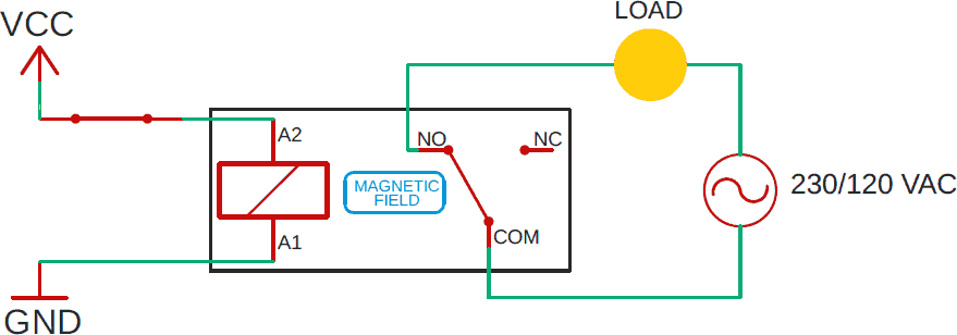 relay powered schematic