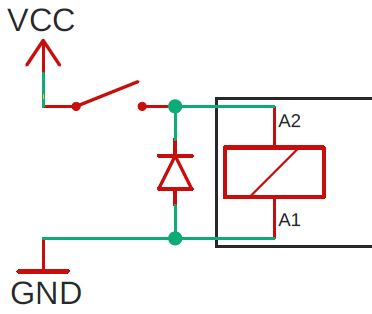 schematic controling relay