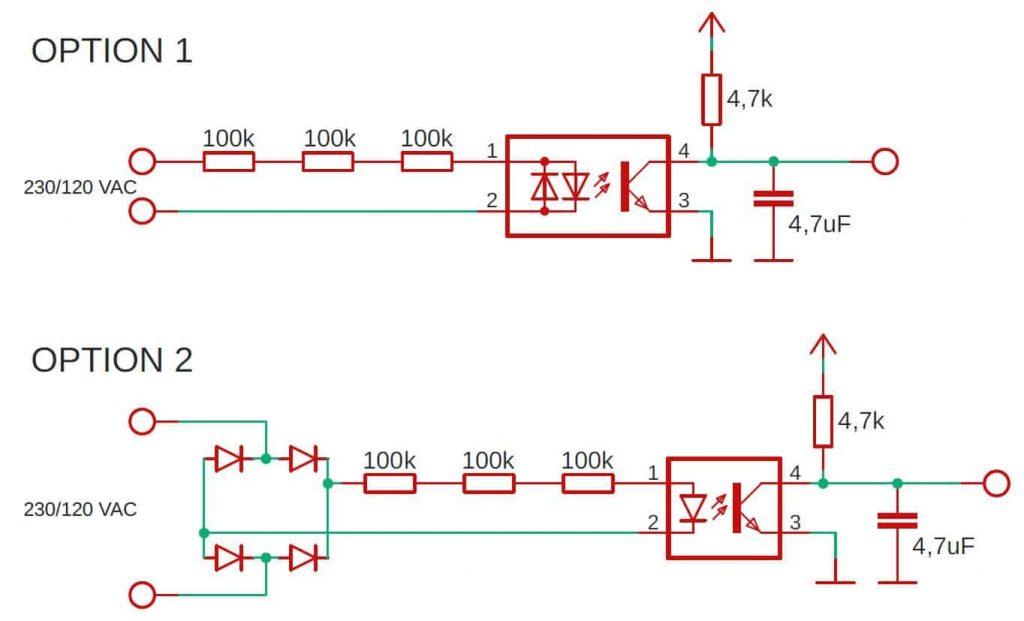 schematic detecting mains voltage